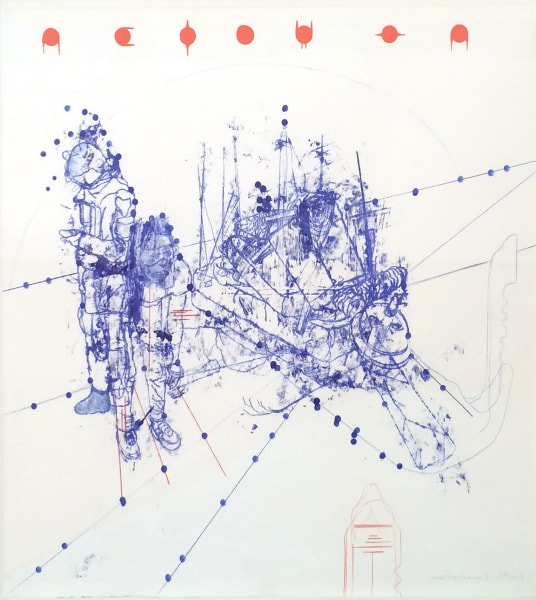 'Atonal Group Cannareggio 9', Monotype series, 2014, Oil and pencil on paper, 145 x 145 cm, framed