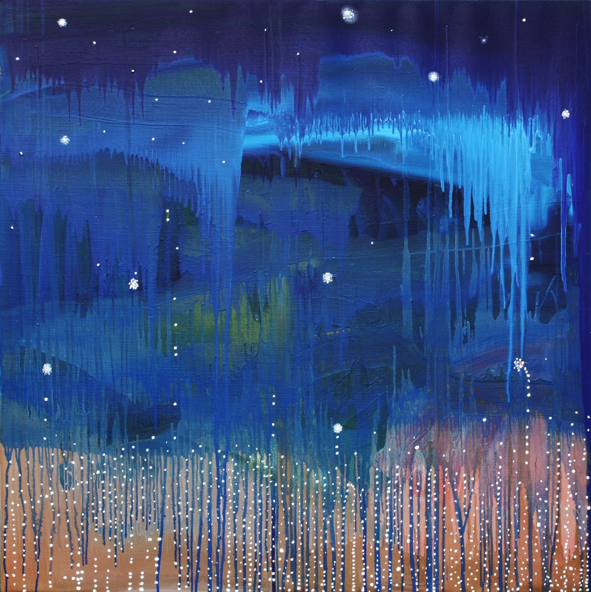 'The Ten Lights', 2017, oil and acrylic on linen, 100 x 100 cm