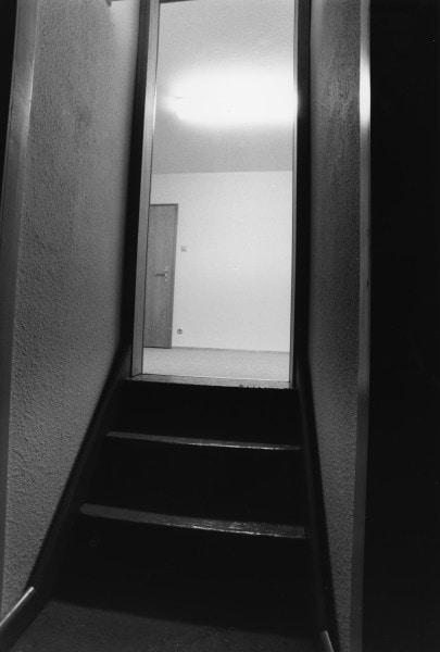 '(Eingang) u r 1, Haus u r, Rheydt', 1986, 2/6, framed b/w hand proof print on Agfa paper, 42 x 52 cm
