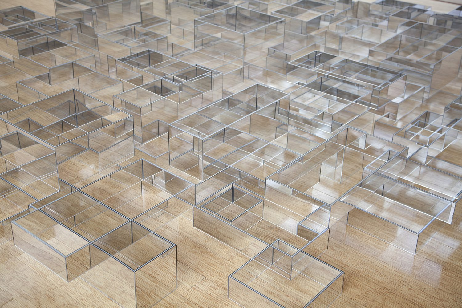 'Field Study' (Detail), 2019, four-sided mirror boxes, dimensions variable
