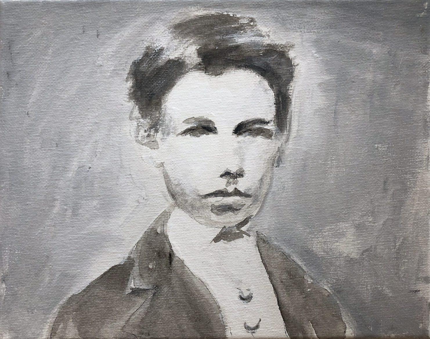 Tim Johnson, 'Arthur 1871 (2)', 2019, acrylic on canvas, 20 x 25 cm