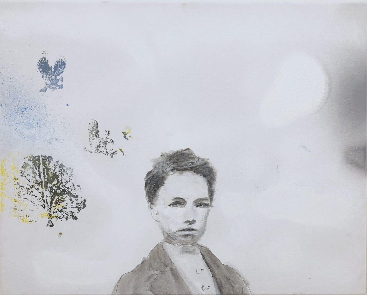 Tim Johnson, 'Arthur', 2019, acrylic on canvas, 40 x 50 cm