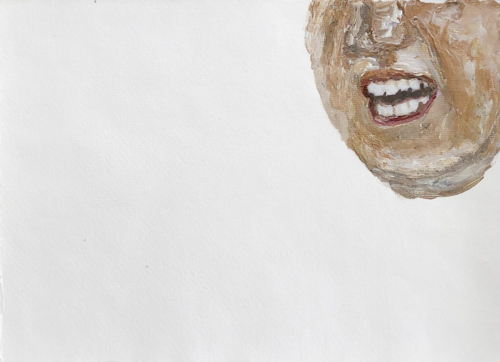 Clemens Krauss 'Laughing Fourth' (From the series '2017-2021'), 2020, acrylic on paper, framed, 27 x 36 cm