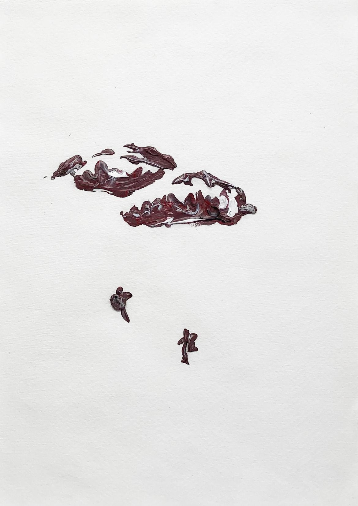 Clemens Krauss 'Rainy Season' (From the series '2017-2021'), 2020, acrylic on paper, framed, 36 x 27 cm