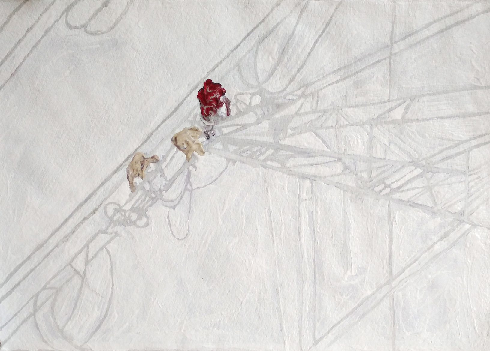 Clemens Krauss 'Vertigo Proposal' (From the series '2017-2021'), 2020, acrylic on hand-made paper, framed, 26 x 37 cm