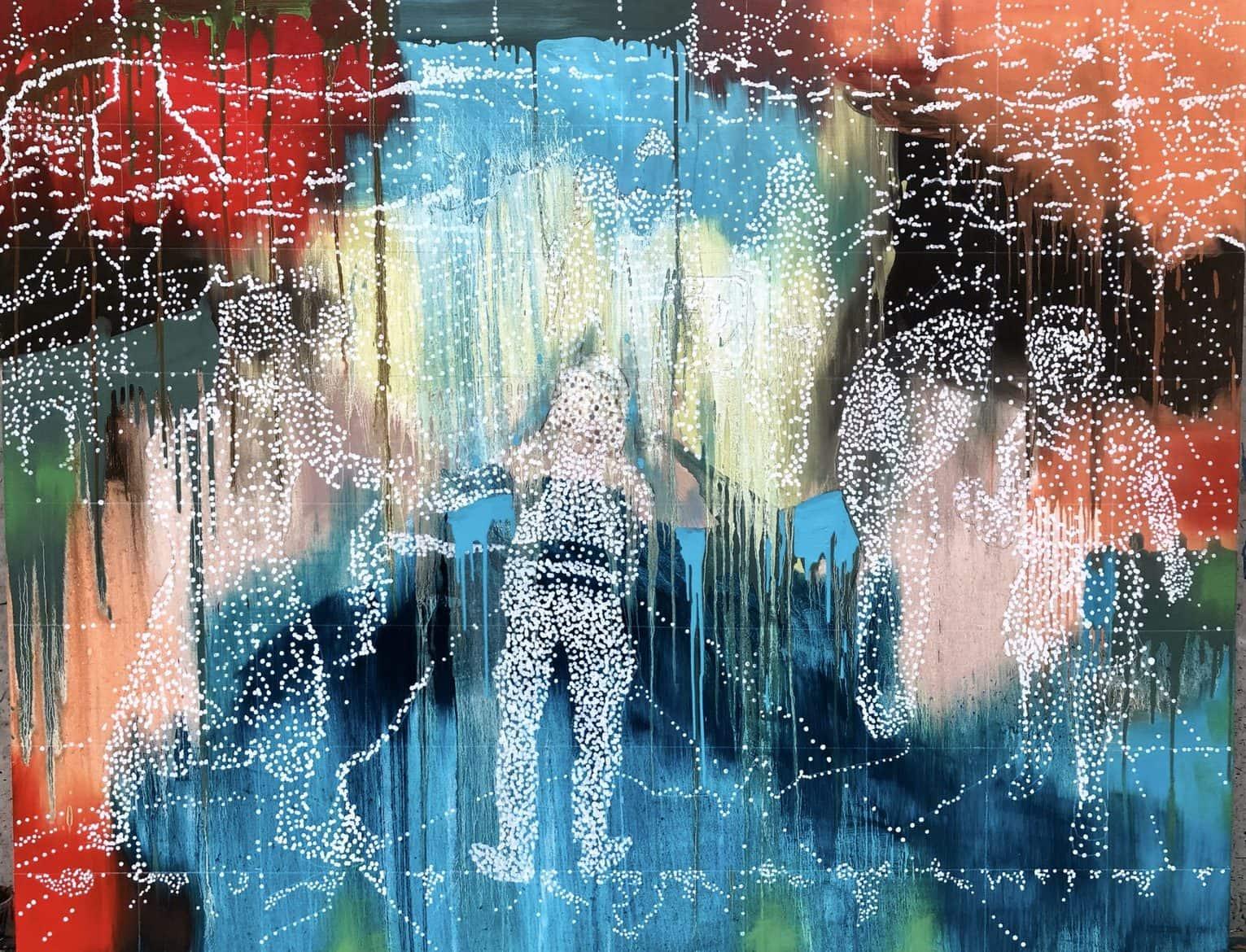 Jon Cattapan, 'Constellation Group No 3', 2019, Oil on linen, 140 x180cm