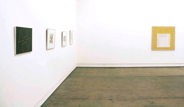 Exhibition shot of 'Albers & Seidler' exhibition at DOMINIK MERSCH GALLERY in August 2011