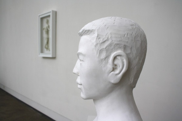 'Young Man', 2012, paper, glue, edition of 1, dimensions compounded 58 x 33 x 27 cm