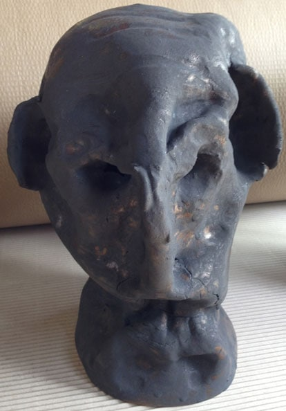 'Elephant Ears', 2013, dry glazed ceramic, 40 x 23 x 23 cm