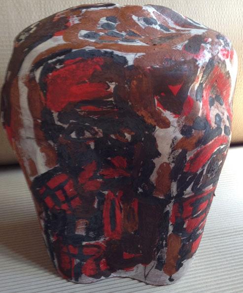 'Hugo Chafez, Queen Elizabeth and the Cardinals', 2013, dry glazed ceramic, 34 x 30 x 30 cm