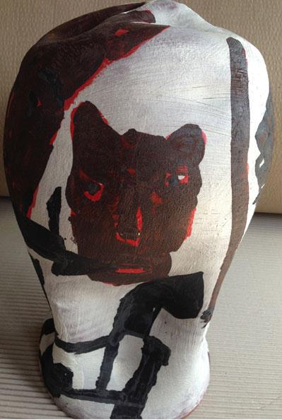 'RBB', 2013, dry glazed ceramic, 40 x 23 x 23 cm