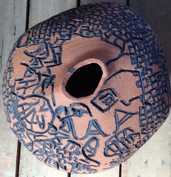 'Victor Bout, Anonymous', 2012-13, dry glazed ceramic, 35 diameter cm