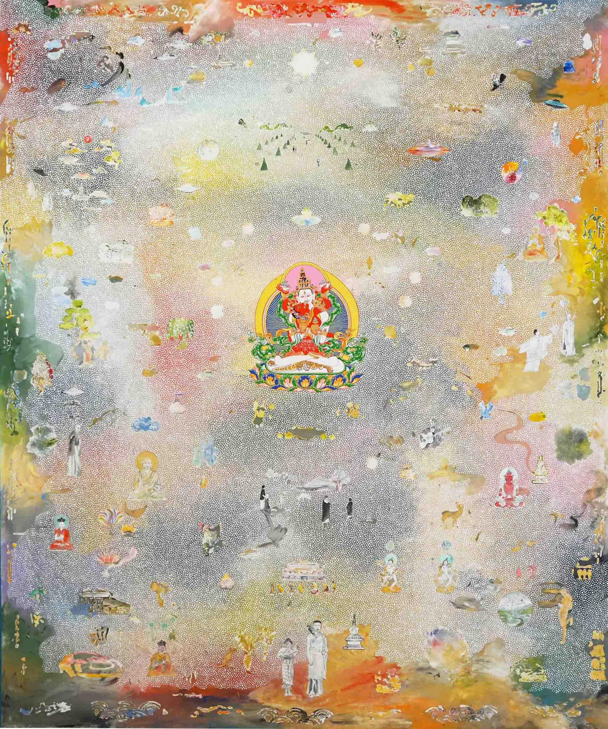 Tim Johnson and Daniel Bogunovic, 'Dadirri', 2019, acrylic on canvas, 183 x 152 cm