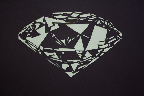 'Diamond', 2009, 40 x 30 cm, cut-out, framed
