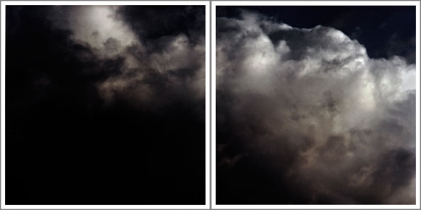 'Combination, as seen from mountain peak' (diptych), 2014, Archival Pigment Prints, 50 x 100 cm, framed, edition of 5 + 1 a.p.