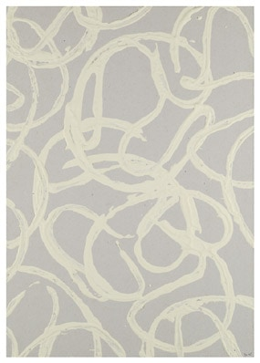 'Kringelprint', Color with papercurls stamped on paper, 2005, 30 x 21 cm