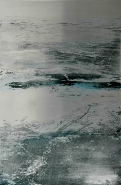 'Frozen Water', 2012, 60 x 40 cm, Transfer painting on aluminium
