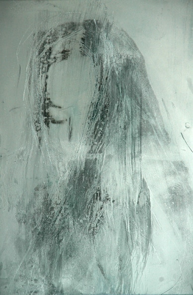'Pandora's Hair', 2010, Transfer/painting on aluminum, 60 x 40 cm