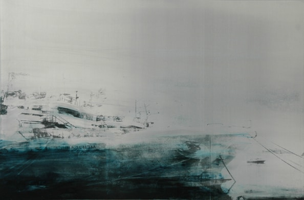'The Long Way', 2012, 80 x 120 cm, Transfer painting on aluminium