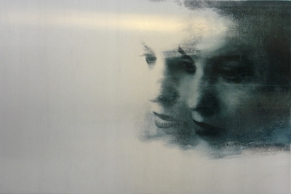 U.T., 2007, Transfer/ Painting on Aluminum, 66 x 100 cm