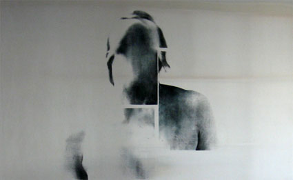 U.T., (S_nu#03), 2008, Transfer painting on aluminum, 74 x 120cm