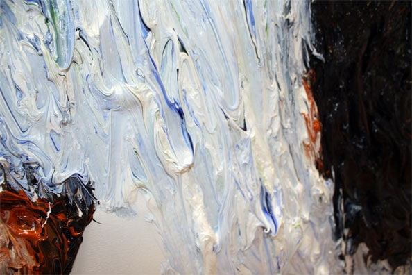 'From the series CHROMOSOMES' (Detail), 2009, 110 x 110 cm, Oil on canvas
