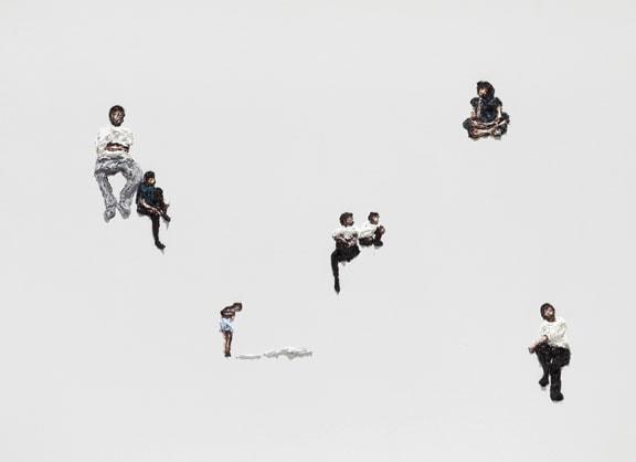 'Meconium Twittering', 2012, Oil on Canvas, 140 x 190 cm