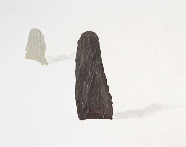 'Remaining Silent 1', 2013, acrylic on board, 24 x 30 cm
