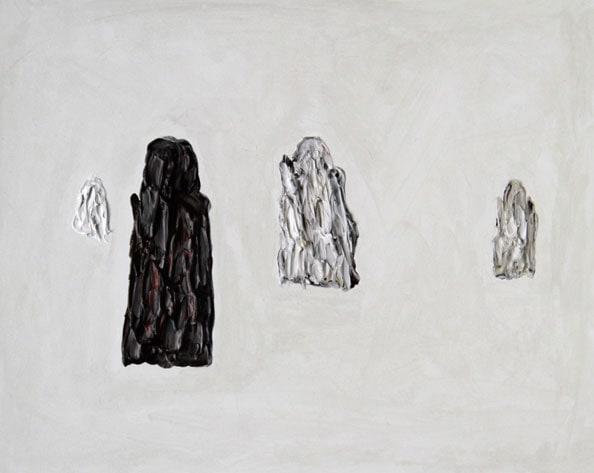 'Remaining Silent 2', 2013, acrylic on board, 24 x 30 cm