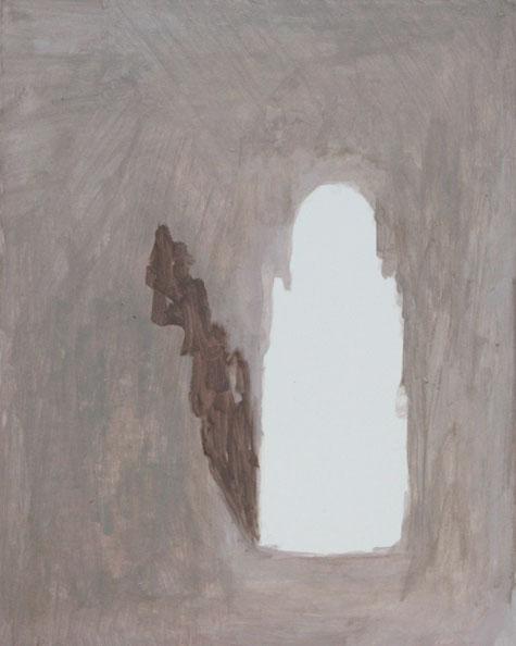 'Remaining Silent 3', 2013, acrylic on board, 24 x 30 cm