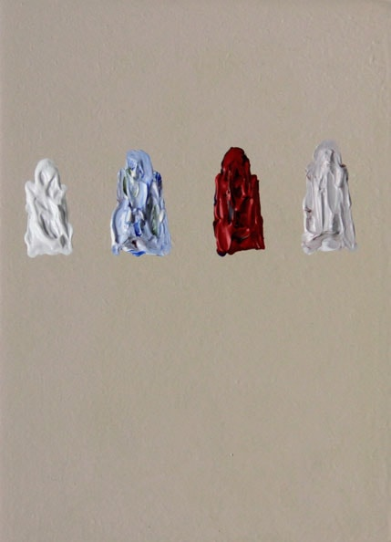 'Remaining Silent 4', 2013, Acrylic on board, 13 x 18 cm