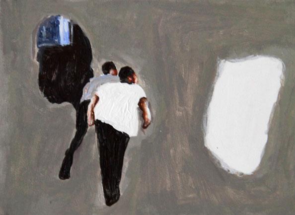'Remaining Silent 5', 2013, acrylic on board, 13 x 18 cm