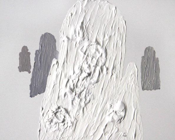'Remaining Silent 6', 2013, acrylic on board, 24 x 30 cm