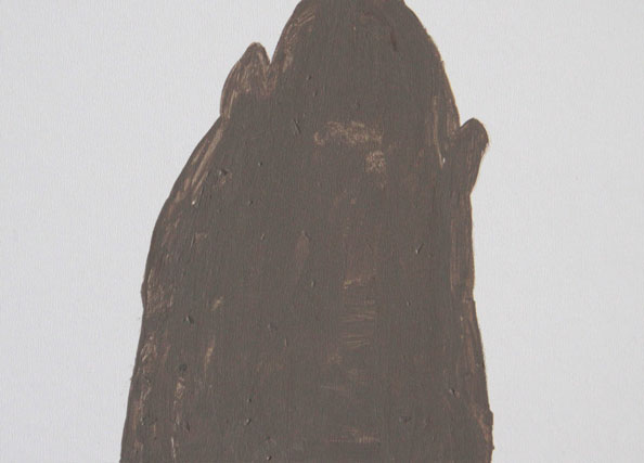 'Remaining Silent 7', 2013, acrylic on board, 13 x 18 cm
