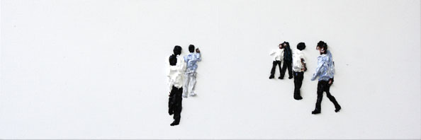'Subtitle 11', From the series 'Subtitle and other Forebodings', (Denk Display III/IV), 2011, oil on canvas, 38 cm x 115 cm