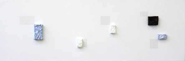 'Subtitle 13', From the series 'Subtitle and other Forebodings', (Denk Display III/IV), 2011, oil on canvas, 38 cm x 115 cm