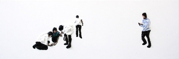 'Subtitle 4', From the series 'Subtitle and other Forebodings', (Denk Display III/IV), 2011, oil on canvas, 38 cm x 115 cm