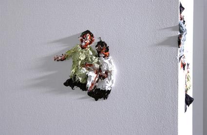 The Bodybody Problem (Detail), 2006, Acryl on wall