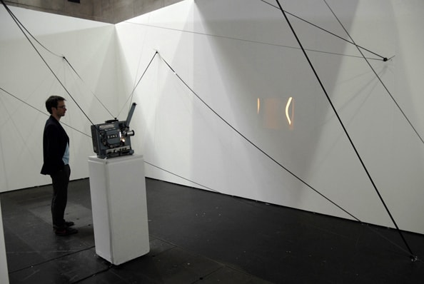 Wandlungen, room installation, 7:30 min 16mm loop, two 16mm projectors, 24 transfer rolls, dimensions vairable, edition 1, 2009