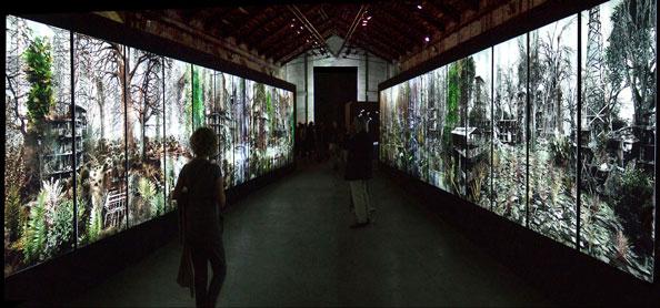 '53th Venice Biennale, 'Private Garden', 2009, 24 light boxes