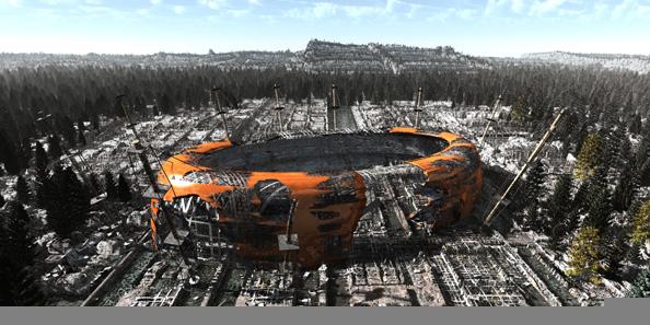'Arena 1', 2010, C-Print, diasec on perspex