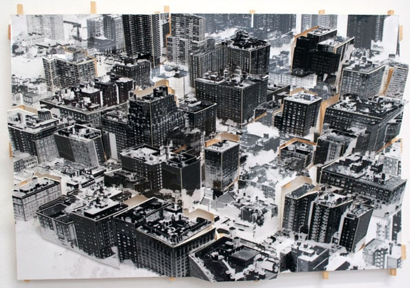 'Aerial New York 2', 2011, C-Print, wood, museum board, 22 x 32 x 4 cm