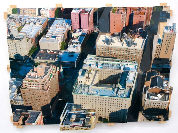 'Aerial New York 6', 2011, C-Print, wood, museum board, 24 x 32 x 8 cm