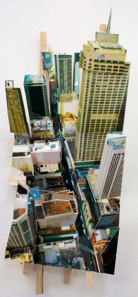 'Aerial Sydney 1', 2011, C-Print, wood, museum board, 25 x 10 x 7 cm
