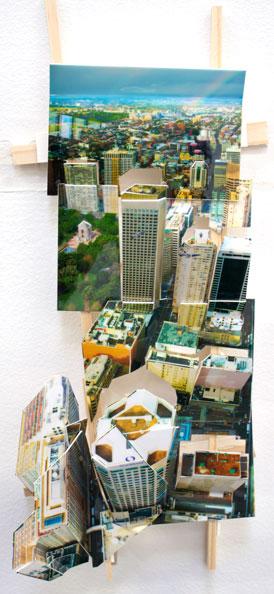 'Aerial Sydney 2', 2011, C-Print, wood, museum board, 25 x 10 x 7 cm