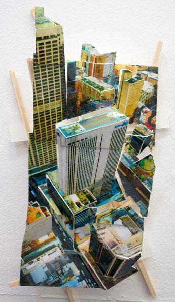 'Aerial Sydney 3', 2011, C-Print, wood, museum board, 23 x 12 x 7 cm