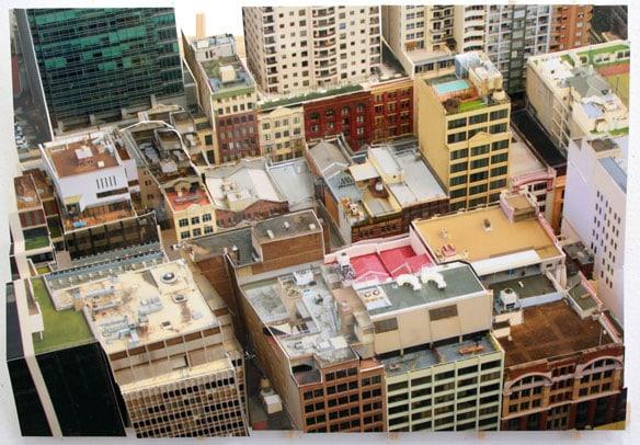 'Aerial Sydney 4', 2011, C-Print, wood, museum board, 26 x 37 x 8 cm