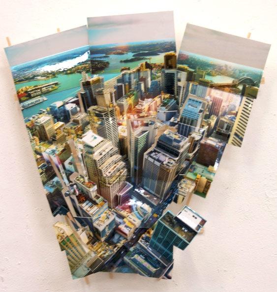 'Aerial Sydney 5', 2011, C-Print, wood, museum board, 52 x 50 x 11 cm