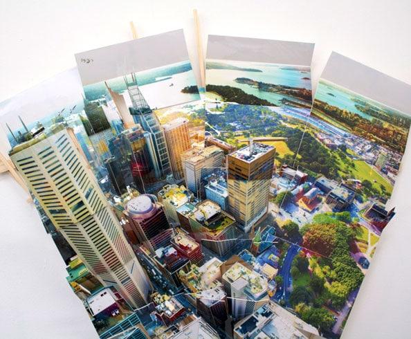 'Sydney MLC 1', 2011, C-Print, wood, museum board, 55 x 70 x 13 cm
