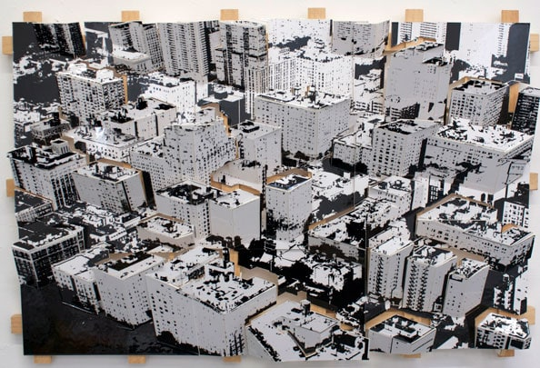 'Aerial, New York 1', 2011, C-Print, wood, museum board, 40 x 61 x 7 cm